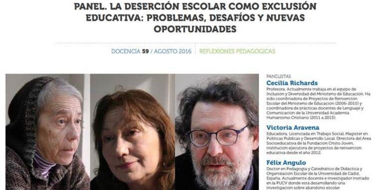 Destacan opiniones de docente y estudiante del Magíster en Educación en Revista Docencia del Colegio de Profesores