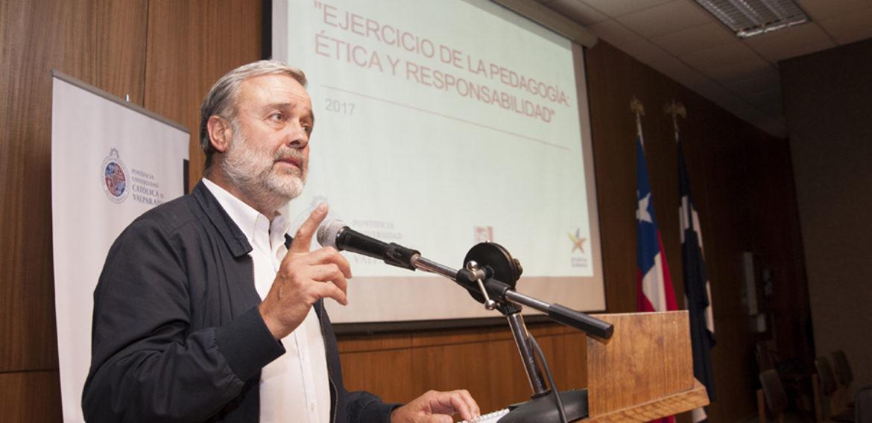 Benito Baranda inauguró Año Académico de la Escuela de Pedagogía