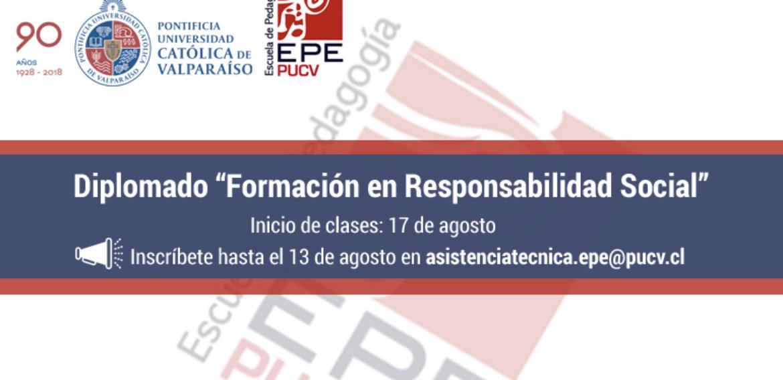 """Escuela de Pedagogía PUCV invita a profesores a participar en Diplomado """"Formación en Responsabilidad Social"""""""