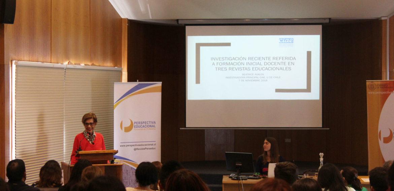 Beatrice Ávalos presenta conferencia en Seminario organizado por Revista Perspectiva Educacional