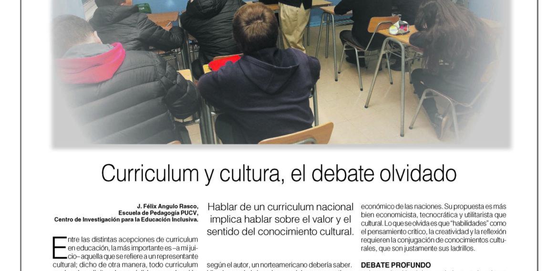 Columna de Opinión: Curriculum y Cultura, el debate olvidado