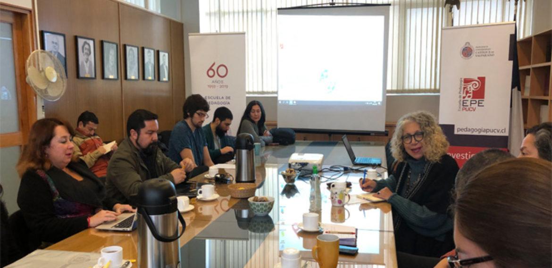 Junto a la Dra. Estela Quintar de la Universidad Autónoma de México, se iniciaron las sesiónes de Diálogos en la Escuela de Pedagogía