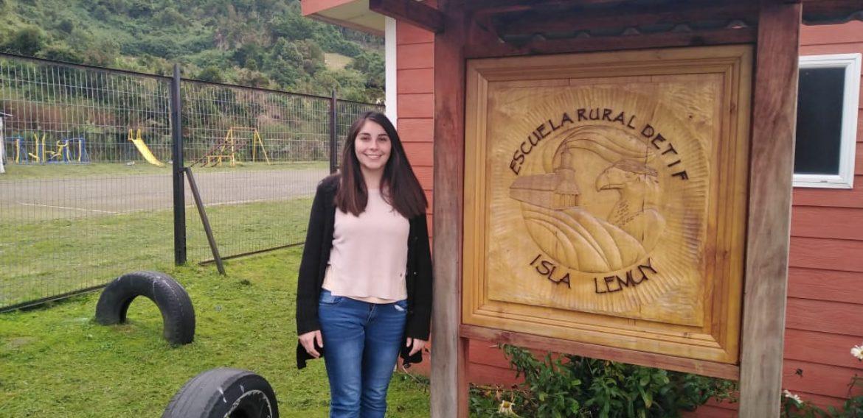 Ex alumna de Educación Parvularia PUCV, Vanessa Agüero: educando en tiempos de pandemia a niños/as en Chiloé