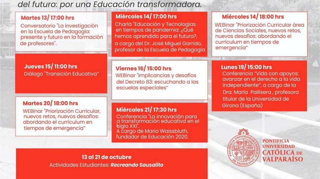 Semana Aniversario Escuela de Pedagogía PUCV