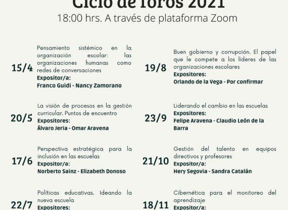 Ciclo de foros 2021 – Cibernética para el monitoreo en el aprendizaje