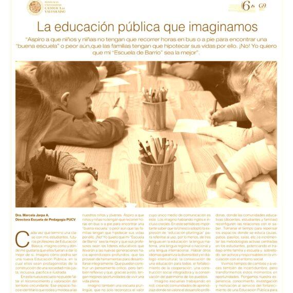 Columna de opinión: La educación pública que imaginamos